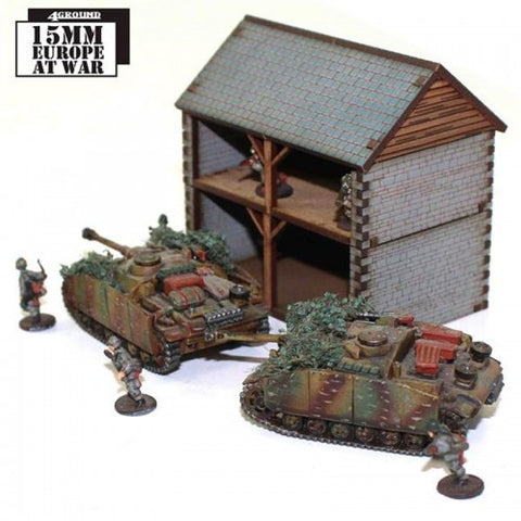 15mm Stone Hay Loft with Cart Shed