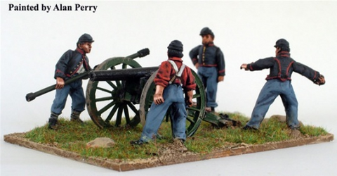 Union Artillery firing