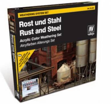 Vallejo Rust & Steel - Weathering System set