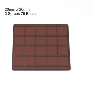 20mm x 20mm Brown Bases