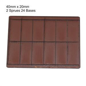 40mm x 20mm Brown Bases