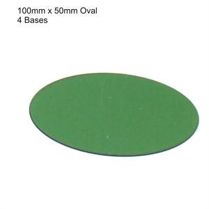 100mm x 50mm Oval Green Bases