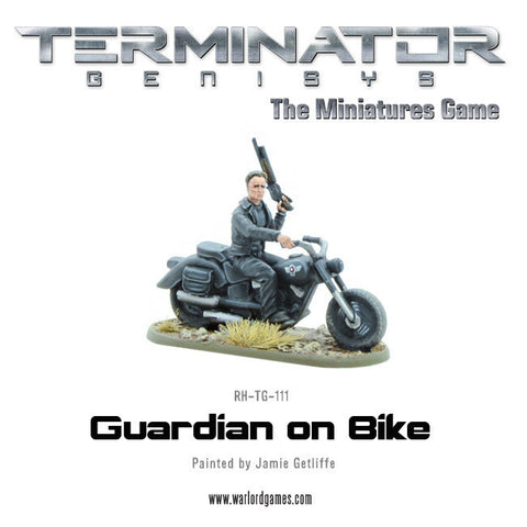 Guardian on Bike (metal)