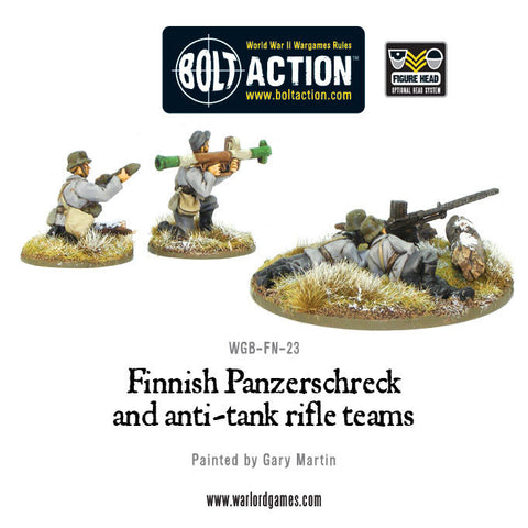Finnish Panzerschreck and anti-tank rifle teams