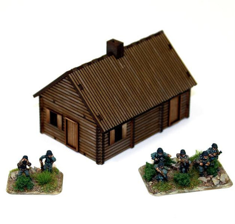 15mm Pre-painted Log Timber House