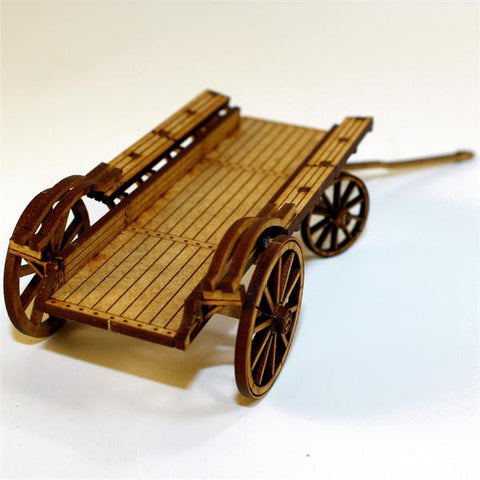 19th cent Flat Bed Ox Wagon