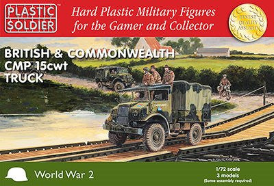 1/72nd British and Commonwealth CMP 15cwt truck