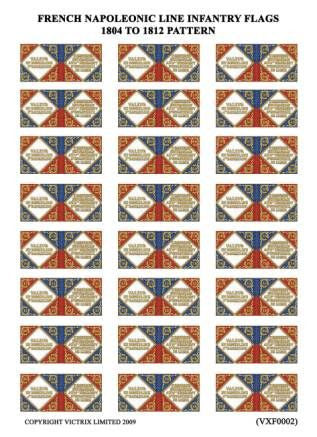 French Napoleonic Line Infantry Flags 1804 to 1812 pattern