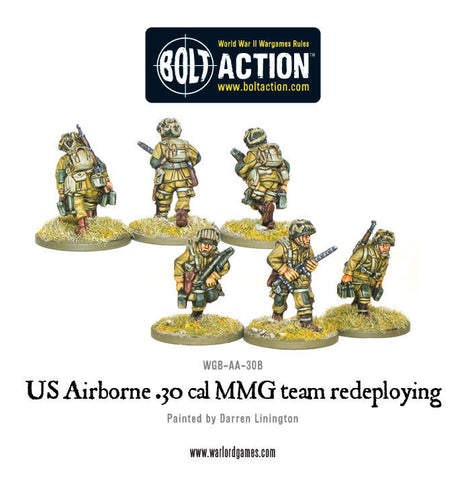 US AIRBORNE 30 CAL MMG TEAM REDEPLOYING (2 variants, random)