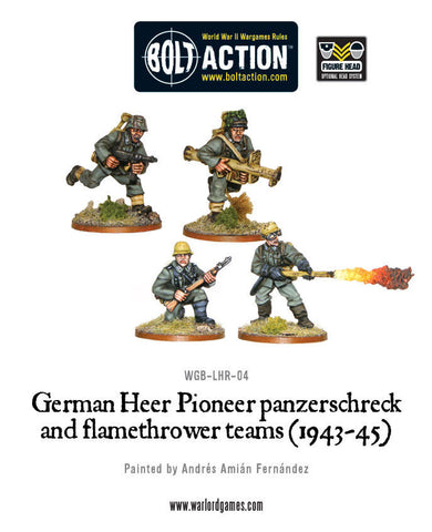 German Heer Pioneer panzerschreck and flamethrower teams (1943-45)