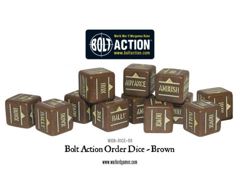 Bolt Action Order Dice -Brown