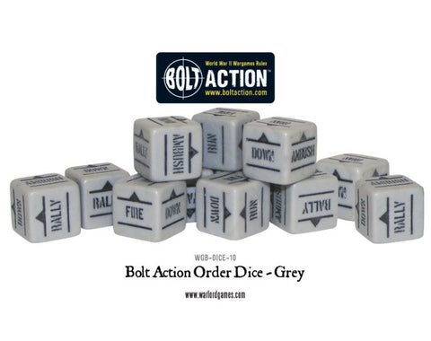 Bolt Action Order Dice -Grey