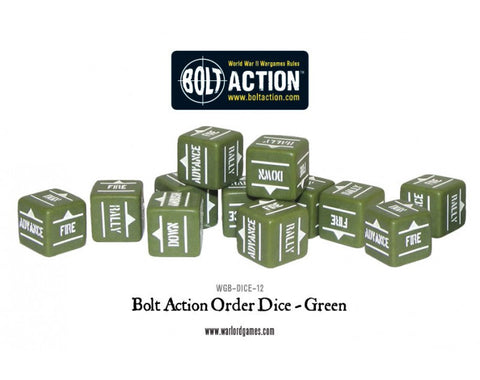 Bolt Action Order Dice -Green