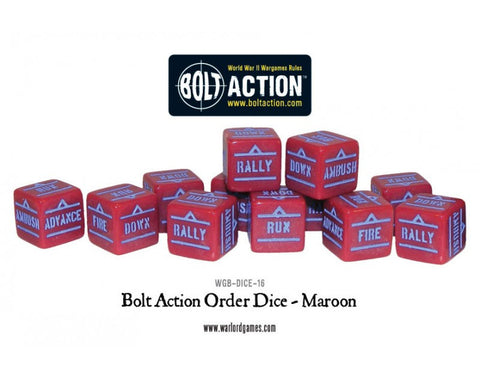Bolt Action Dice- Maroon