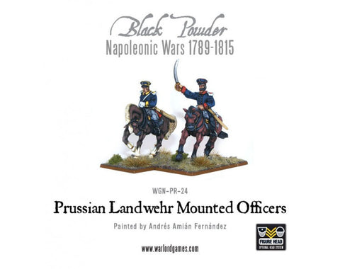 Prussian Landwehr Officers Mounted