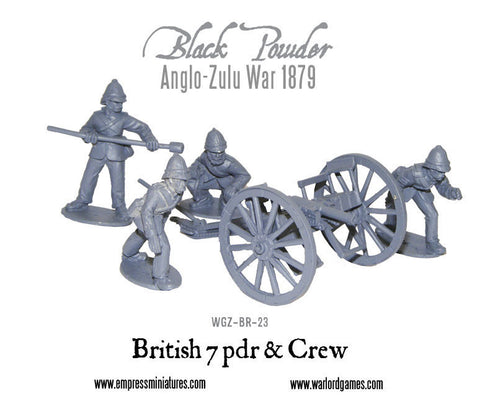 Anglo-Zulu War British 7 pdr and crew