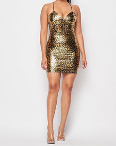 Gold Print Bodycon