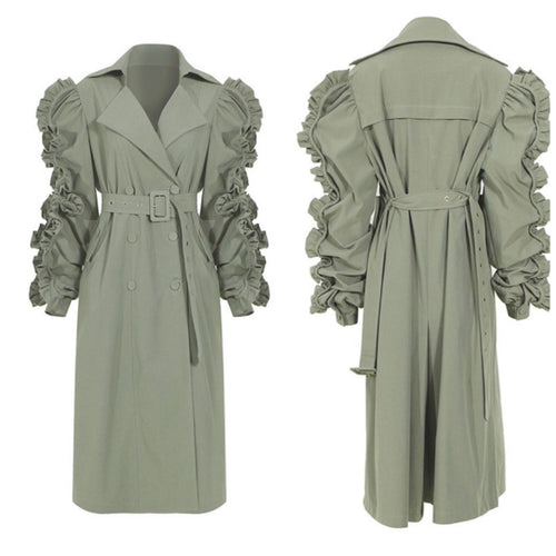 Tuffed Trench Coat
