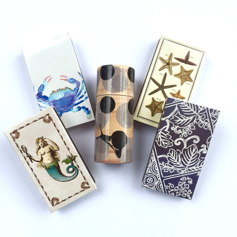 These jumbo matches come in sixteen gorgeous patterns and are perfect for lighting your hand poured soy candles!
