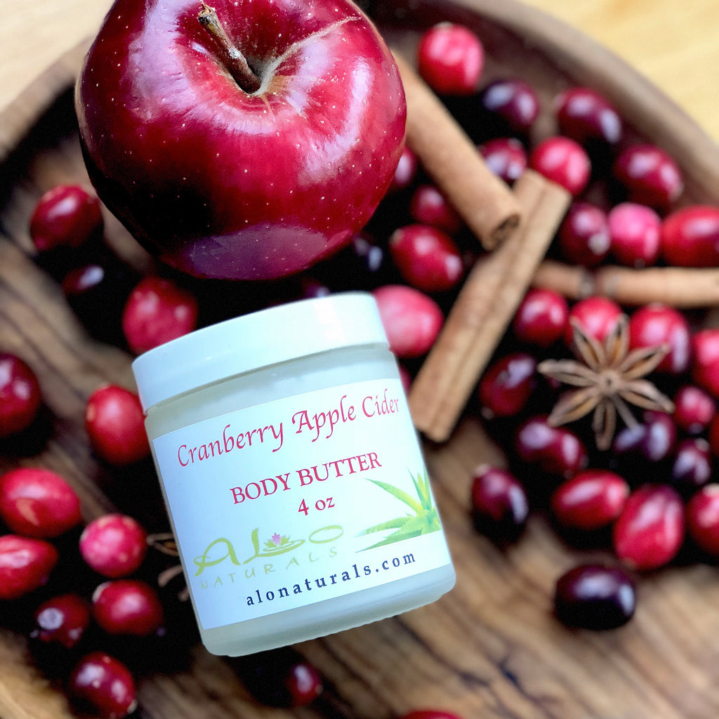 Our Cranberry Apple Cider has a warm delicious smell that makes you feel right at home for the holidays!  This natural handmade body butter makes skin silky soft! It is made of top quality raw ingredients from around the world making it completely unique and high grade. It moisturizes, nourishes and regenerates your skin to promote a healthy and radiant glow!