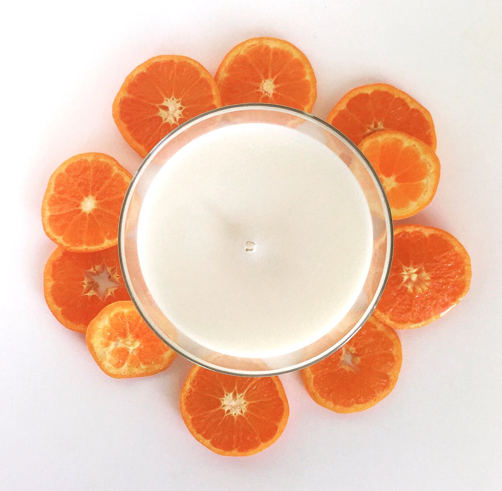 This fresh citrus scent helps alleviate symptoms of depression, anxiety, anger, and promotes relaxation.  Tangerine serves as an aphrodisiac, natural bug repellent, and studies even suggest this scent may aid in improving cognitive function especially in Alzheimer's patients.  Over 65 hours of burn time!