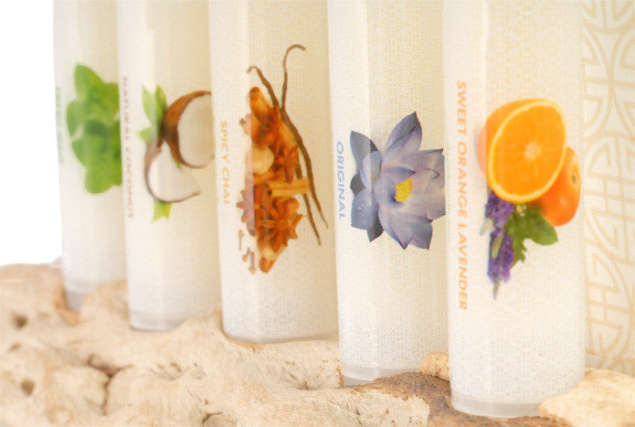 This collection includes one of each of our five original flavors of our all natural lip balm!  Original, Natural Coconut, Sweet Orange Lavender, Fresh Mint, and Spicy Chai.