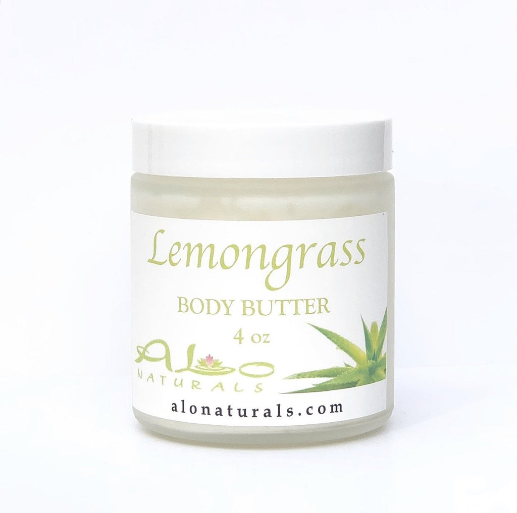 All natural Lemongrass scented body butter.  Formulated to heal and hydrate the skin.  4oz jar.