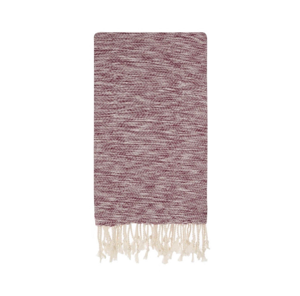 This beautiful Burgundy, Kiraz Turkish towel is known for its softness, absorbency, and quick dry time.  It is gorgeous worn as a sarong, wrap, shawl, travel blanket, and wonderful to lay on at the beach, pool or dry off with after a warm shower.