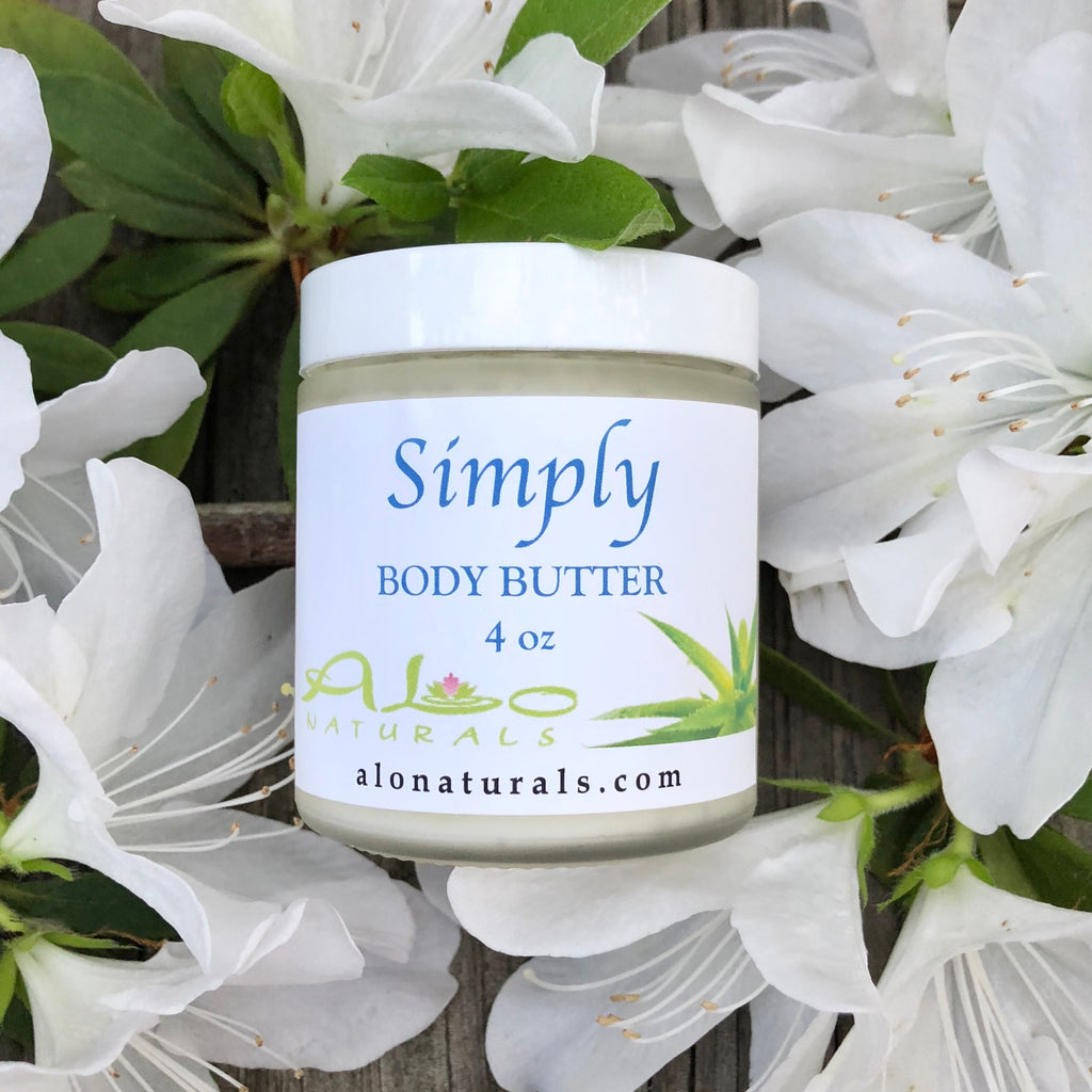 Simply is a great choice for people with very sensitive skin and conditions including severe eczema and psoriasis.  This all natural body butter has been kept simple with no added scent.  Also great on babies!  This natural handmade body butter makes skin silky soft! It is made of top quality raw ingredients from around the world making it completely unique and high grade. It moisturizes, nourishes and regenerates your skin to promote a healthy and radiant glow!