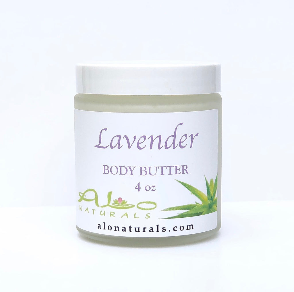 100% natural Lavender Body Butter.  Intense hydration. 4oz jar.