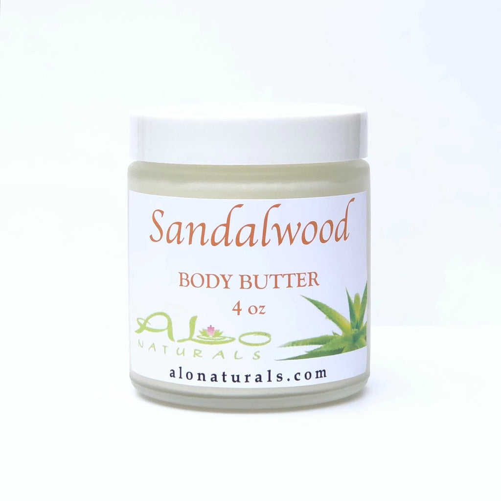 Handmade with 100% natural ingredients.  Intense moisture.  Earthy scent of Sandalwood.