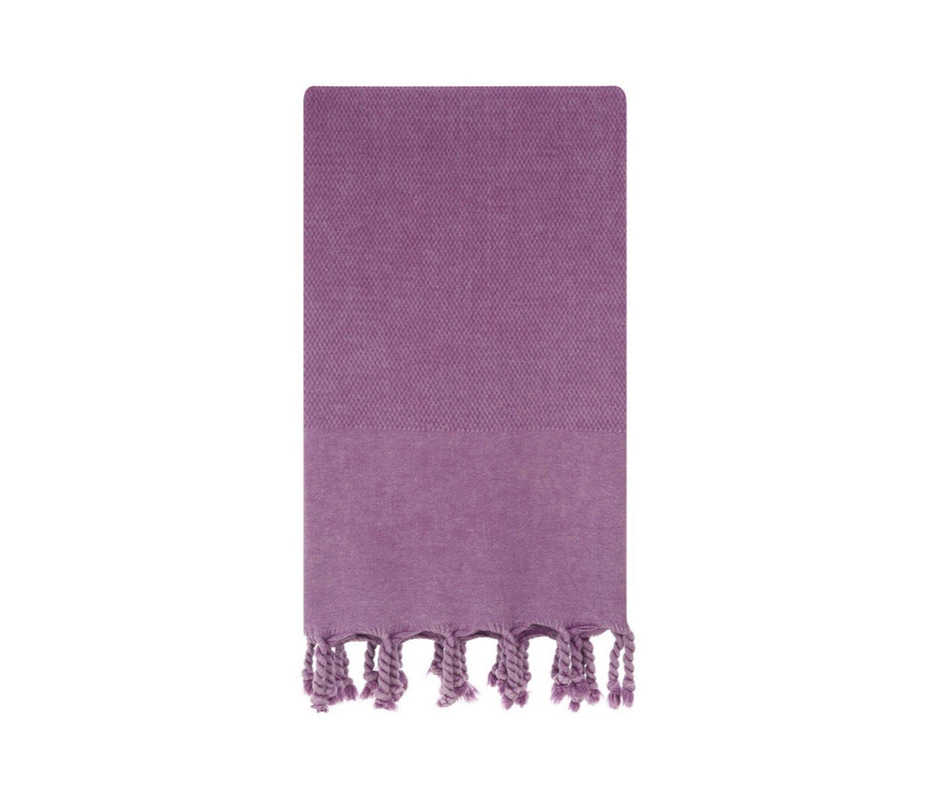 Turkish towel for beach or bath in lilac