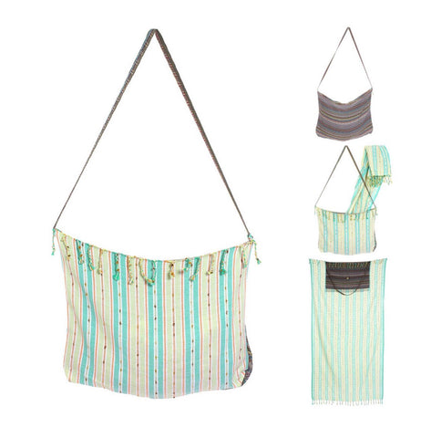Transformer Pestemal/Bag - Green