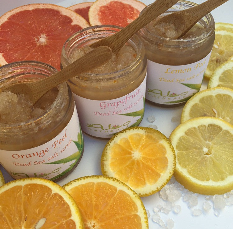 Citrus Dead Sea Salt Scrub Collection