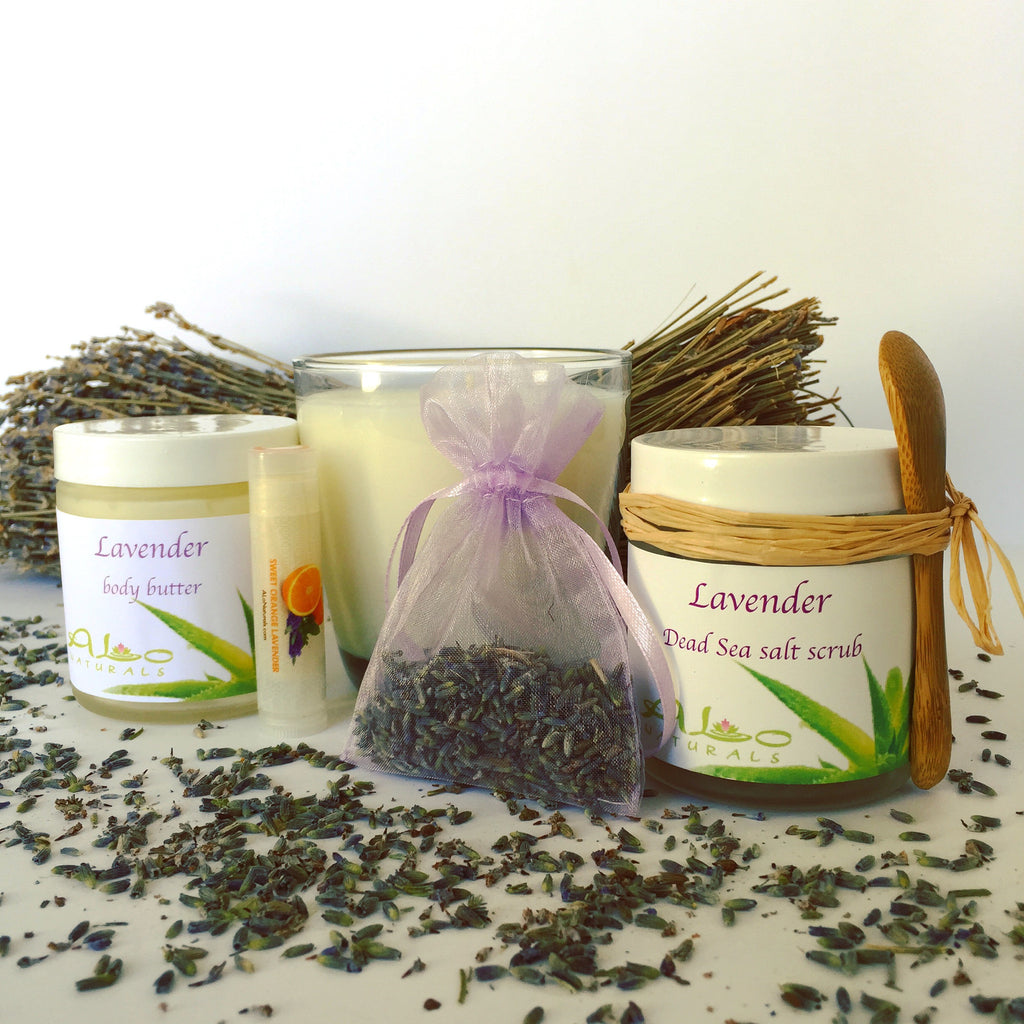 Our Lavender Collection has a lovely herbal scent which promotes relaxation.  It is useful for treating anxiety, insomnia, depression, and restlessness.  Scented with therapeutic grade essential oils.