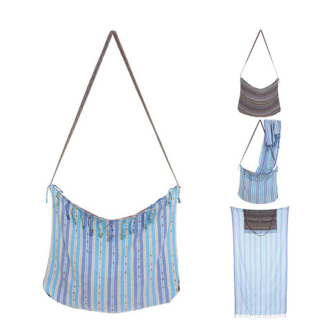 Turkish Cotton Transformer Pestemal and Bag