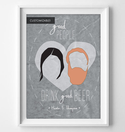 Customizable Beer Lover Art