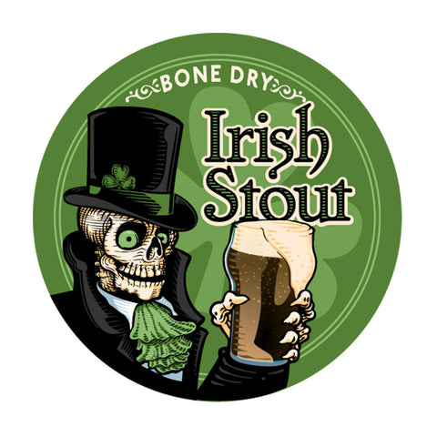 Bone Dry Irish Stout 5 Gallon Beer Recipe Kit