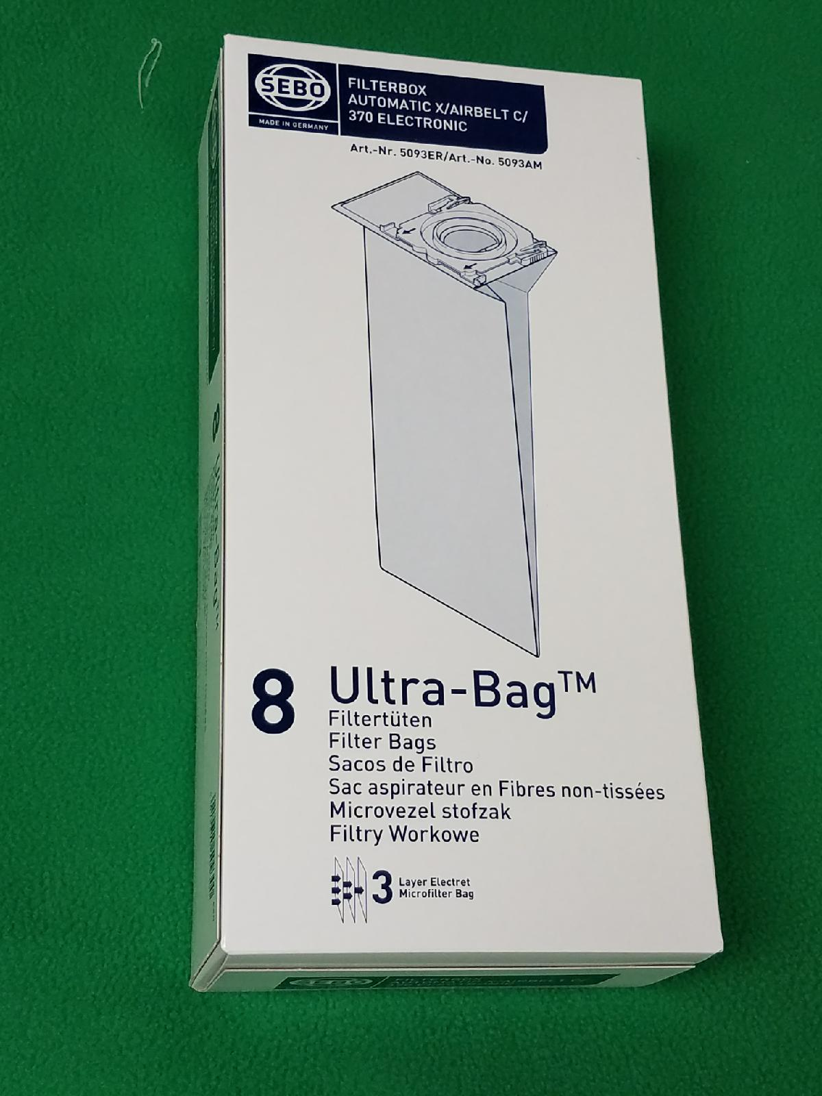 SEBO Filter Bag Box for 370 Series