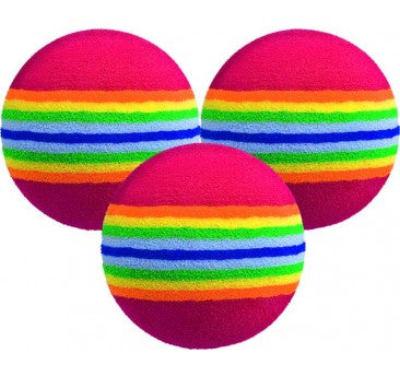 MULTICOLOURED FOAM BALL 6 PK