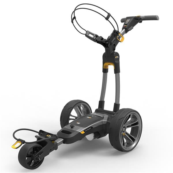 Powakaddy CT6 GPS EBS 18 Hole Lithium Cart Gunmetal