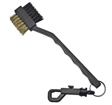 2 WAY BRUSH AND KEYRING BLACK