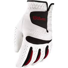Wilson Feel Plus Golf Glove Mens Left Hand White