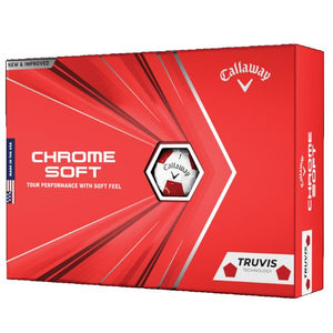 Callaway Chrome Soft Truvis Red/White