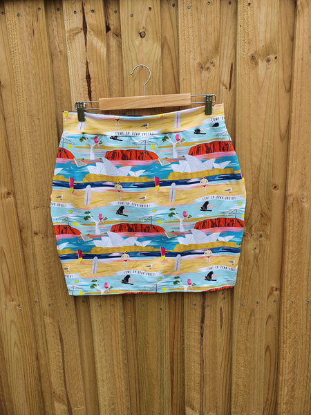 Pencil Skirt - Australiana Prints