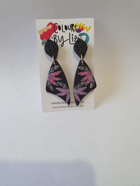 Va Va Fleur - Jungle Kaleidoscope Colours By Liz Earrings