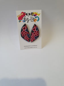 Va Va Fleur - Refracted Urban Colours By Liz Earrings