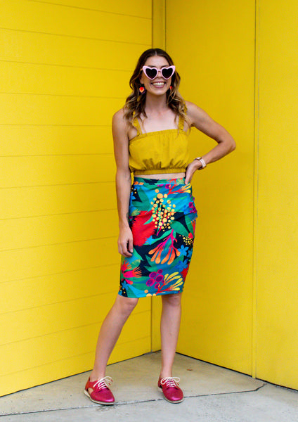 Kasey Rainbow Colours of Australia - Pencil Skirt