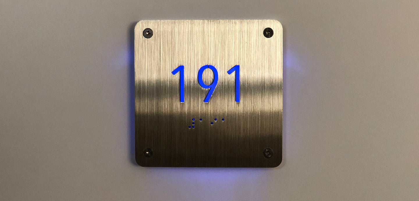 Commercial Unit Number Signage
