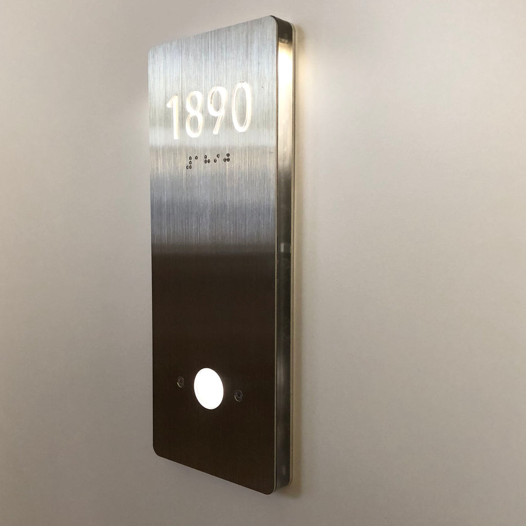 NMRDB-4X10 Unit Number Signage with Doorbell Button